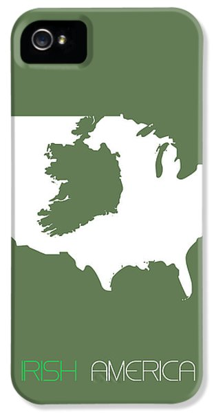 Irish iPhone 5 Cases - Irish America Poster iPhone 5 Case by Naxart Studio
