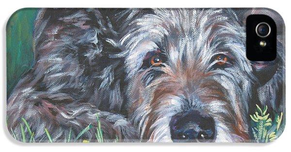Irish iPhone 5 Cases - Irish wolfhound iPhone 5 Case by Lee Ann Shepard