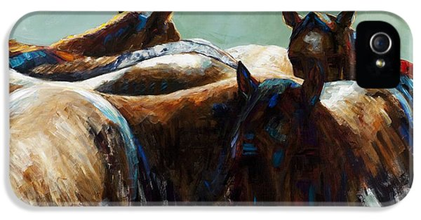 Equine iPhone 5 Cases - Its All About the Brush Stroke iPhone 5 Case by Frances Marino