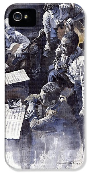 Nyc iPhone 5 Cases - Jazz Parker Tristano Bauer Safransky RCA studio NY 1949 iPhone 5 Case by Yuriy  Shevchuk