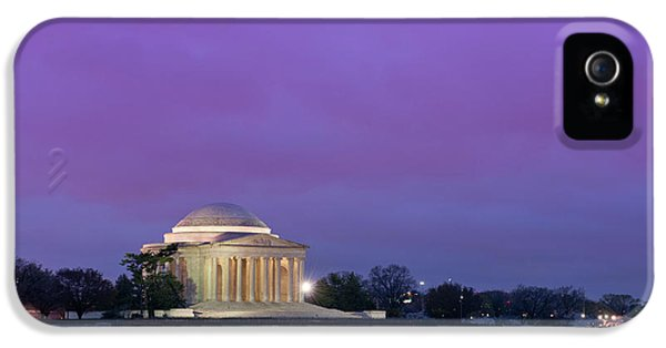 Bay iPhone 5 Cases - Jefferson Monument iPhone 5 Case by Sebastian Musial