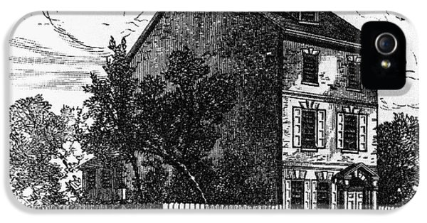 Declaration Of Independance iPhone 5 Cases - Jeffersons House, 1776 iPhone 5 Case by Granger