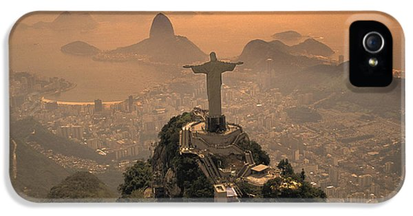 Jesus Christ iPhone 5 Cases - Jesus in Rio iPhone 5 Case by Christian Heeb