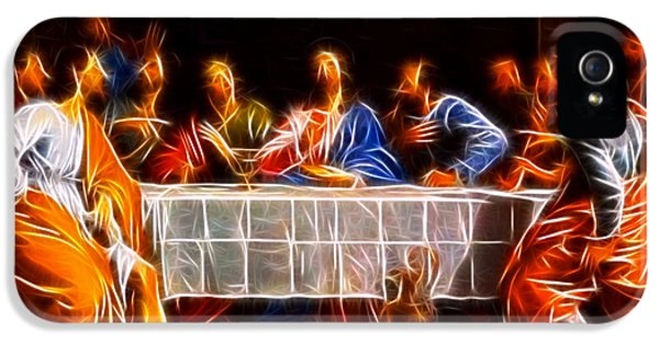 Happy Jesus iPhone 5 Cases - Jesus The Last Supper iPhone 5 Case by Pamela Johnson