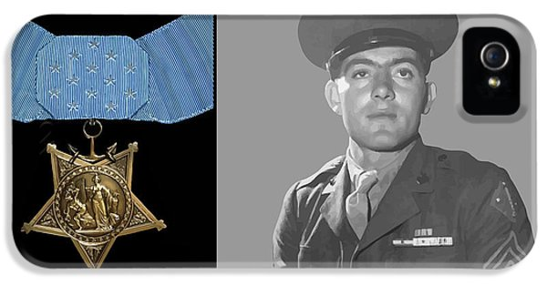 Marine Corps iPhone 5 Cases - John Basilone and The Medal of Honor iPhone 5 Case by War Is Hell Store