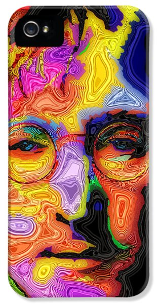 The Beatles iPhone 5 Cases - John Lennon iPhone 5 Case by Stephen Anderson