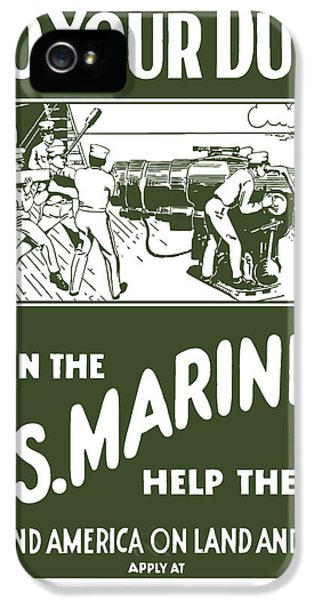 Marine Corps iPhone 5 Cases - Join The US Marines iPhone 5 Case by War Is Hell Store