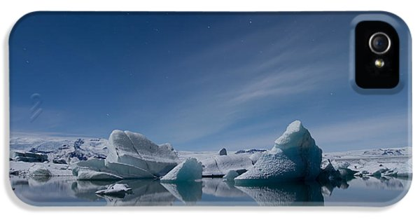 Tourism iPhone 5 Cases - Jokulsarlon at Night iPhone 5 Case by Andres Leon