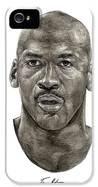 Michael Jordan iPhone 5 Cases - Jordan iPhone 5 Case by Tamir Barkan