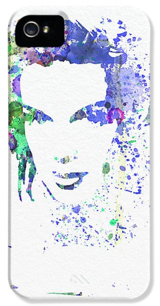 Film Watercolor iPhone 5 Cases - Judy Garland 2 iPhone 5 Case by Naxart Studio