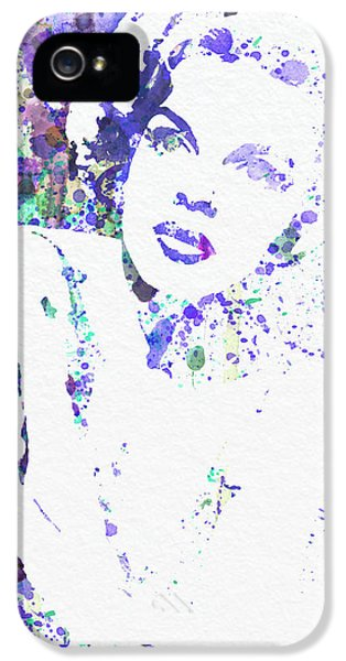 Film Watercolor iPhone 5 Cases - Judy Garland iPhone 5 Case by Naxart Studio