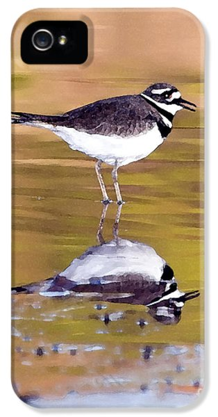 Killdeer Reflection IPhone 5 / 5s Case by Betty LaRue