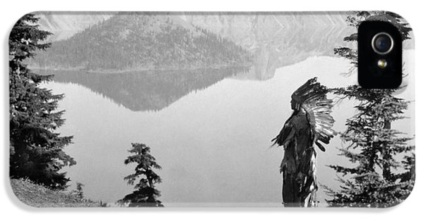 Edward iPhone 5 Cases - KLAMATH CHIEF, c1923 iPhone 5 Case by Granger