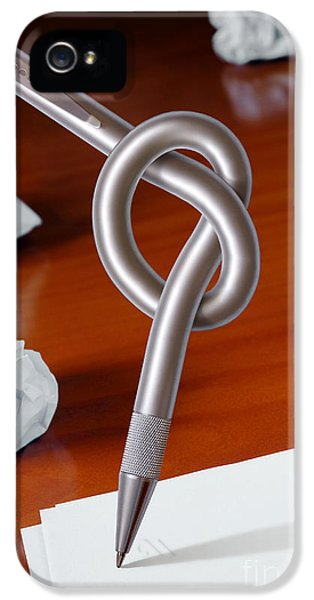Knot iPhone 5 Cases - Knot on Pen iPhone 5 Case by Carlos Caetano