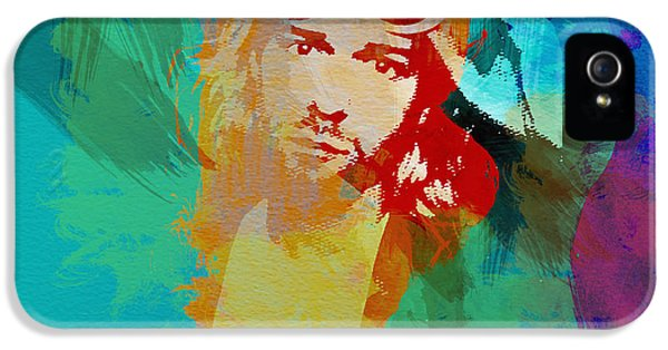 Kurt Cobain iPhone 5 Cases - Kurt Cobain iPhone 5 Case by Naxart Studio