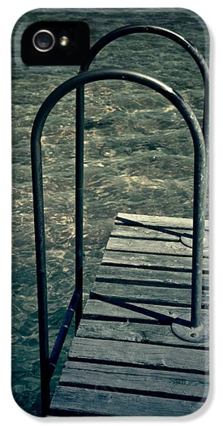 Ladder iPhone 5 Cases - Ladder Into The Lake iPhone 5 Case by Joana Kruse