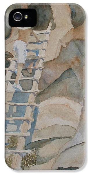 Ruins iPhone 5 Cases - Ladder to the Past iPhone 5 Case by Jenny Armitage