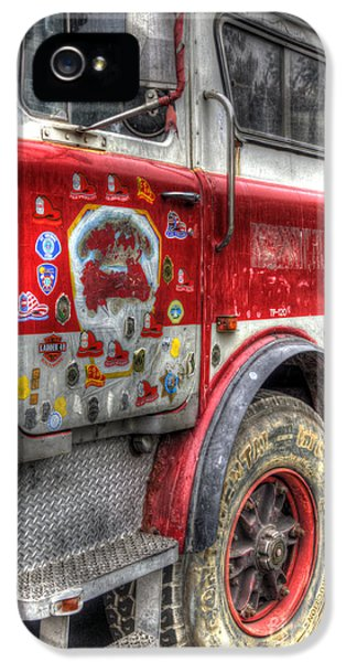 Ladder iPhone 5 Cases - Ladder Truck 152 - In Remembrance of 9-11 iPhone 5 Case by Eddie Yerkish
