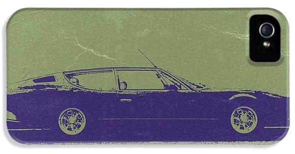 Italian Classic Car iPhone 5 Cases - Lamborghini Espada iPhone 5 Case by Naxart Studio