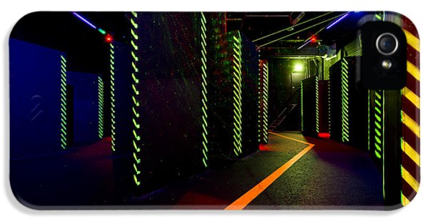 Electrical Equipment iPhone 5 Cases - Laser Game Area With Obstacles iPhone 5 Case by Corepics