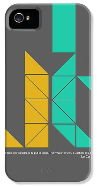 Le Corbusier Quote Poster IPhone 5 / 5s Case by Naxart Studio