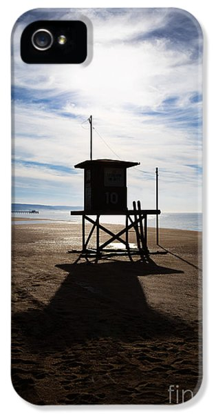 Balboa iPhone 5 Cases - Lifeguard Tower Newport Beach California iPhone 5 Case by Paul Velgos