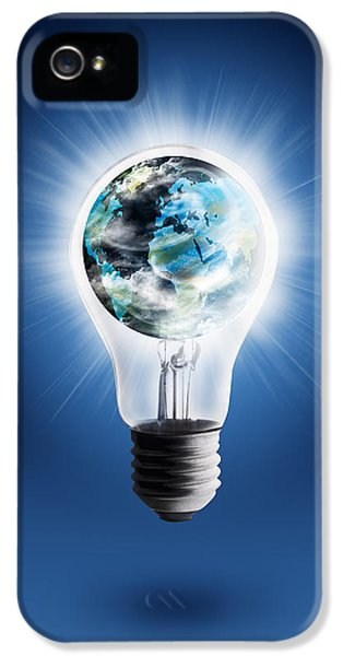 Cooperation iPhone 5 Cases - Light Bulb With Globe iPhone 5 Case by Setsiri Silapasuwanchai