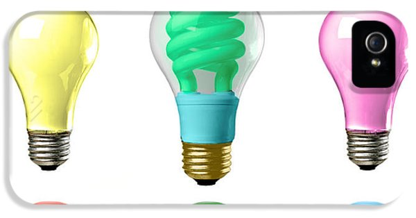 Creativity iPhone 5 Cases - Light bulbs of a different color iPhone 5 Case by Bob Orsillo