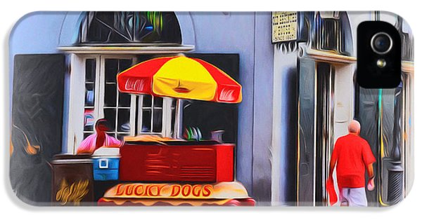 Hotdogs iPhone 5 Cases - Lucky Dogs - Bourbon Street iPhone 5 Case by Bill Cannon
