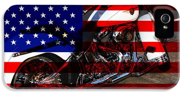 July 4th iPhone 5 Cases - Made In The USA . Harley-Davidson . 7D12757 iPhone 5 Case by Wingsdomain Art and Photography