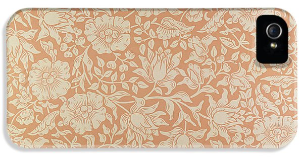 Arts And Crafts Movement iPhone 5 Cases - Mallow wallpaper design iPhone 5 Case by William Morris