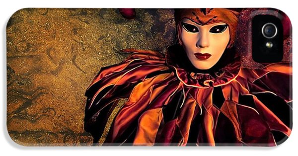 Mask iPhone 5 Cases - Masquerade iPhone 5 Case by Photodream Art