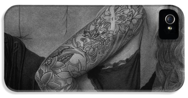 Pencil Drawing iPhone 5 Cases - Megan Renee iPhone 5 Case by Tim Dangaran