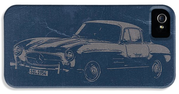 German Classic Cars iPhone 5 Cases - Mercedes Benz 300 SL iPhone 5 Case by Naxart Studio