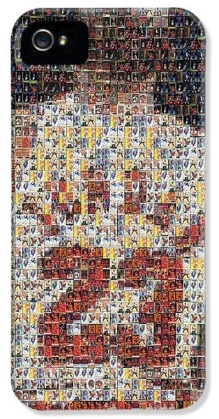 Michael Jordan iPhone 5 Cases - Michael Jordan Card Mosaic 2 iPhone 5 Case by Paul Van Scott