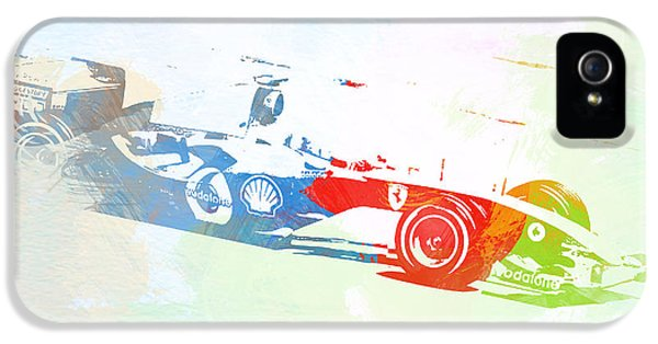 Formula One iPhone 5 Cases - Michael Schumacher iPhone 5 Case by Naxart Studio