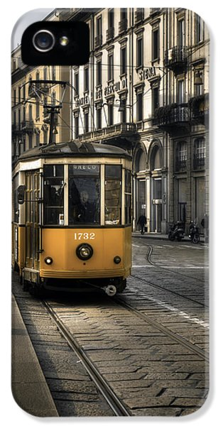Old Tram iPhone 5 Cases - Milan Italy iPhone 5 Case by Joana Kruse
