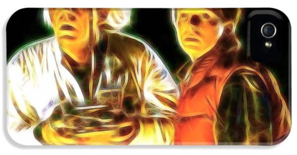 Michael J Fox iPhone 5 Cases - Mistical Doc n Marty iPhone 5 Case by Paul Van Scott