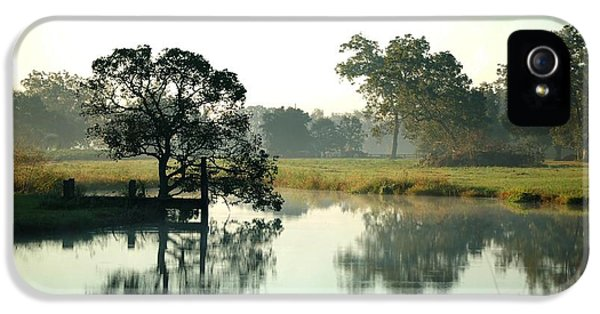 Micdesigns iPhone 5 Cases - Misty Morning Pond iPhone 5 Case by Michael Thomas