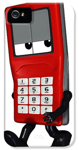 Scowl iPhone 5 Cases - Mobile Phone Cartoon Character iPhone 5 Case by Friedrich Saurer