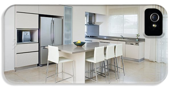 Barstools iPhone 5 Cases - Modern Kitchen and Dining Table iPhone 5 Case by Noam Armonn