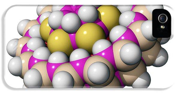 Molecular Graphic iPhone 5 Cases - Molecular Bearing, Computer Model iPhone 5 Case by Laguna Design