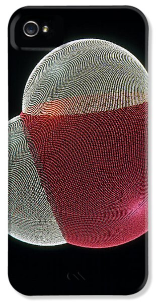 Molecular Graphic iPhone 5 Cases - Molecular Graphic Of A Molecule Of Water iPhone 5 Case by Pasieka