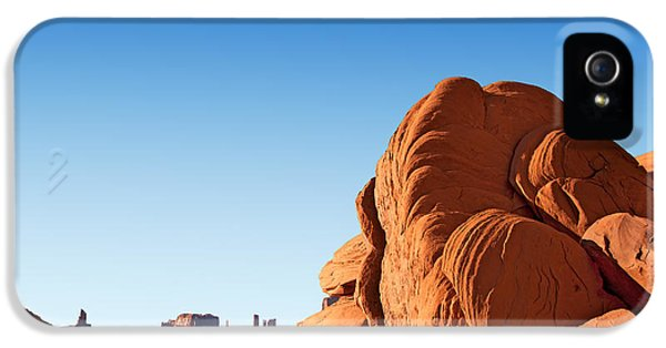 Hot Western iPhone 5 Cases - Monument Valley rocks iPhone 5 Case by Jane Rix