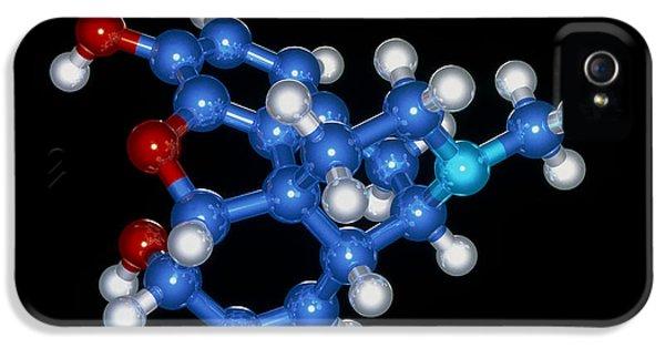 Alkaloid iPhone 5 Cases - Morphine Drug Molecule iPhone 5 Case by Laguna Design