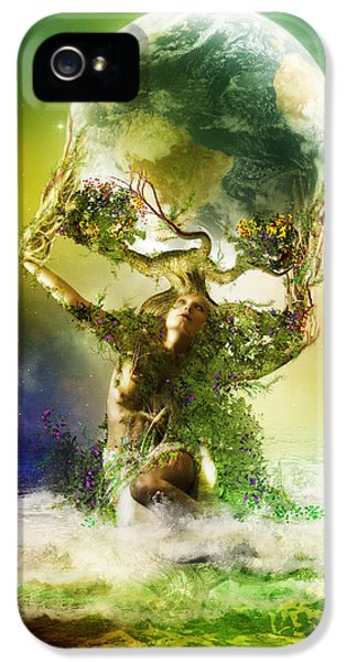 Gaia iPhone 5 Cases - Mother Earth iPhone 5 Case by Karen H