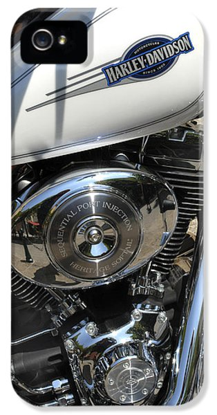 Technological iPhone 5 Cases - Motorcycle Engine iPhone 5 Case by Tony Craddock