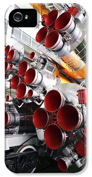 Rockets iPhone 5 Cases - Motors Of A Soyuz Rocket iPhone 5 Case by Ria Novosti