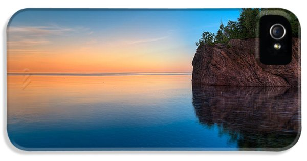 Baptism iPhone 5 Cases - Mouth Of The Baptism River Minnesota iPhone 5 Case by Steve Gadomski