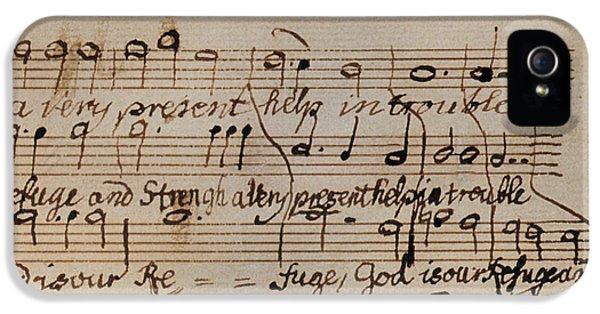 Composer iPhone 5 Cases - Mozart: Motet Manuscript iPhone 5 Case by Granger